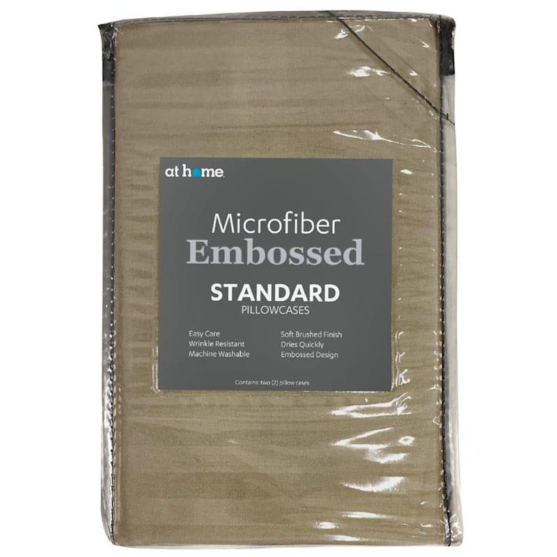 Taupe Microfiber 2-Piece Pillow Case Standard 20X26