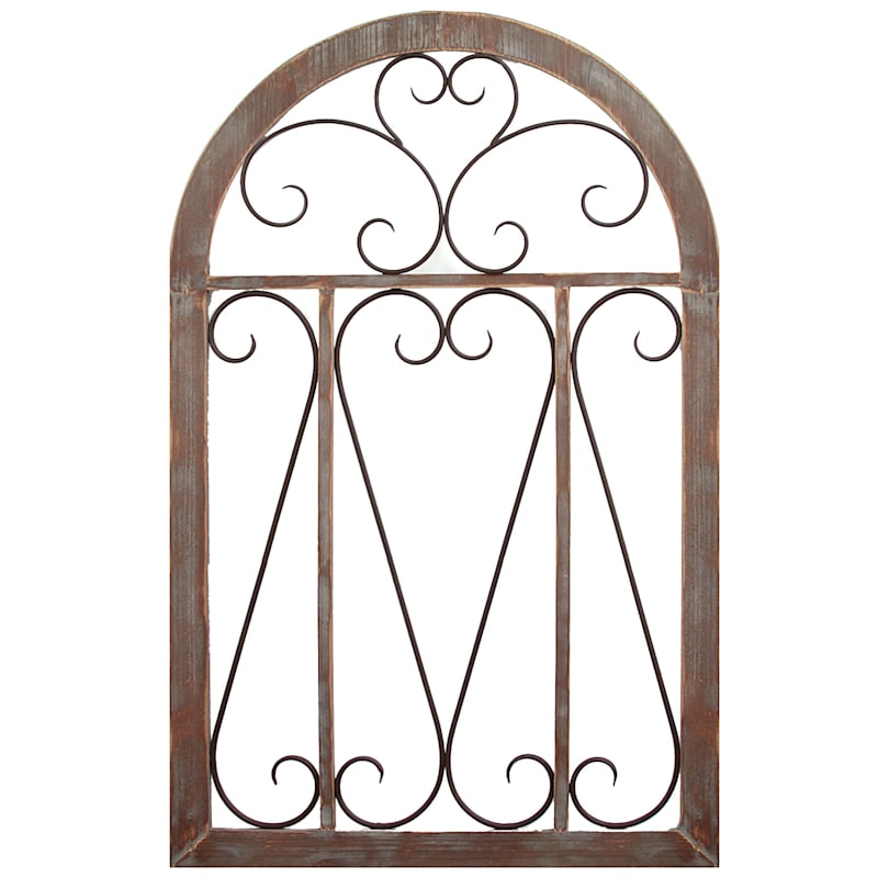 26X42 Wood Scroll Gate Wall Decor