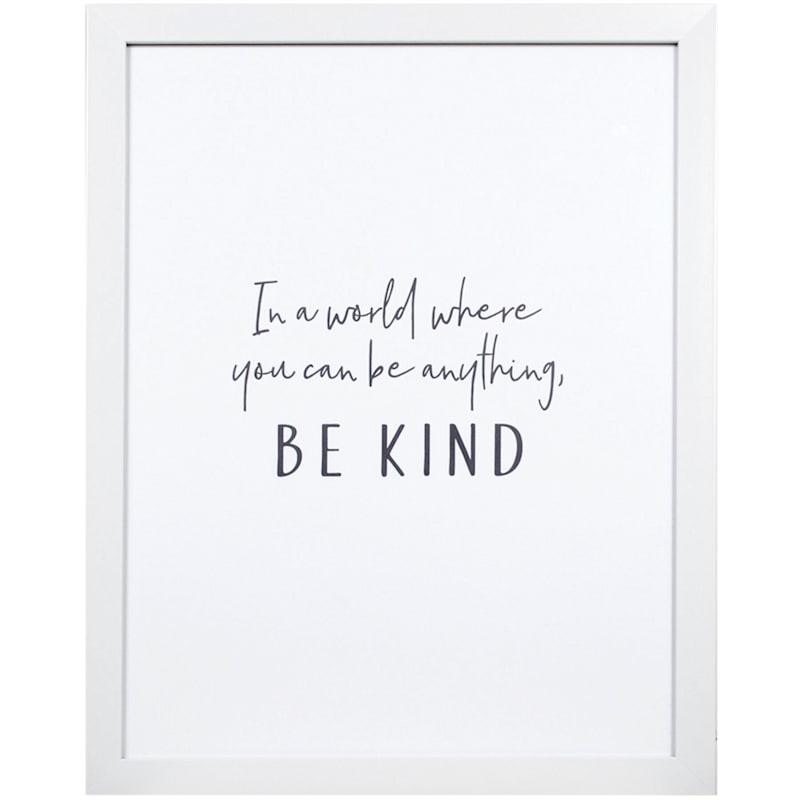 18X14 Be Kind Print Under Glass Wall Art