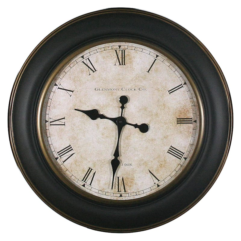 30-in Gold and Brown Antique Glenmont Clock