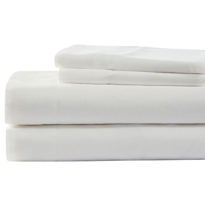 White Microfiber 3-Piece Sheet Set Twin