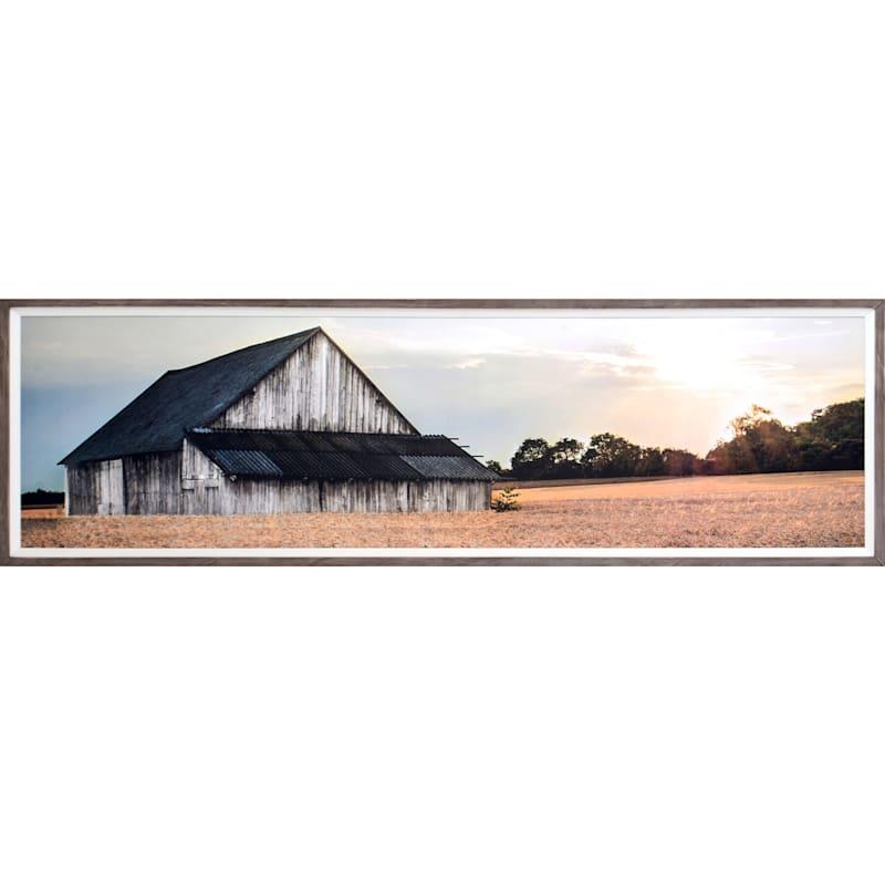 69X20 Framed Wood Art