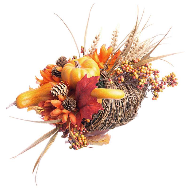 Assorted Berries, Pumpkin & Hydrangea Fall Arrangement