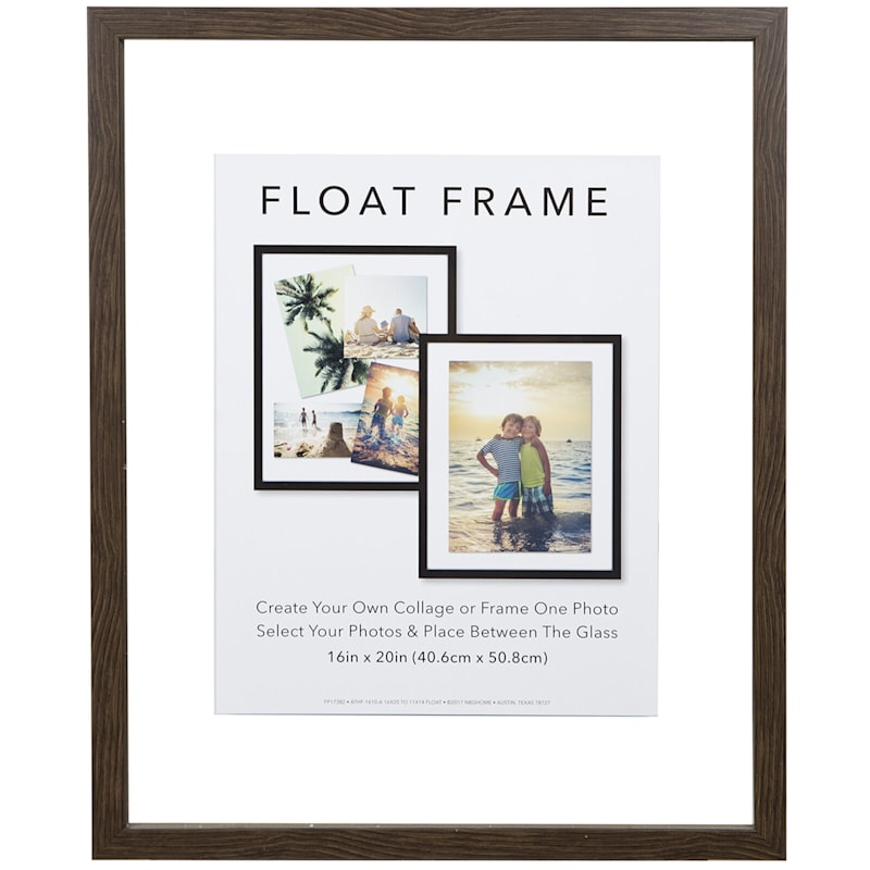 16X20 Grey Linear Profile Float Photo Wall Frame
