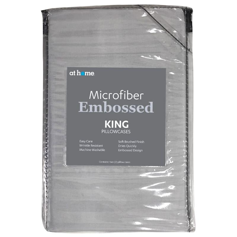 Green Microfiber 2-Piece Pillow Case King 20X36