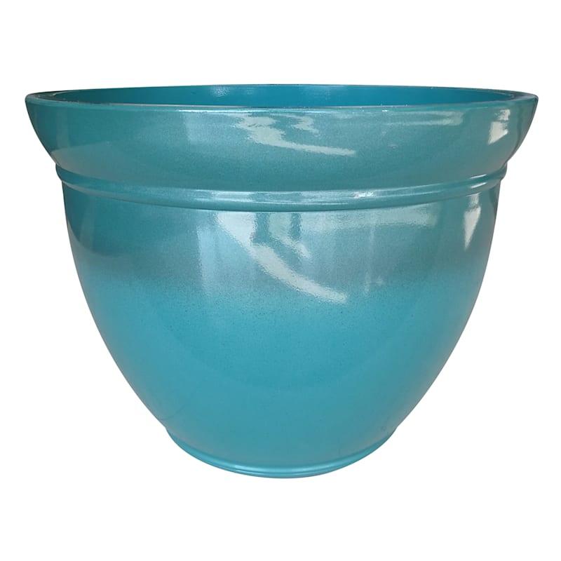 22.5 Resin Kittredge Planter Turquoise