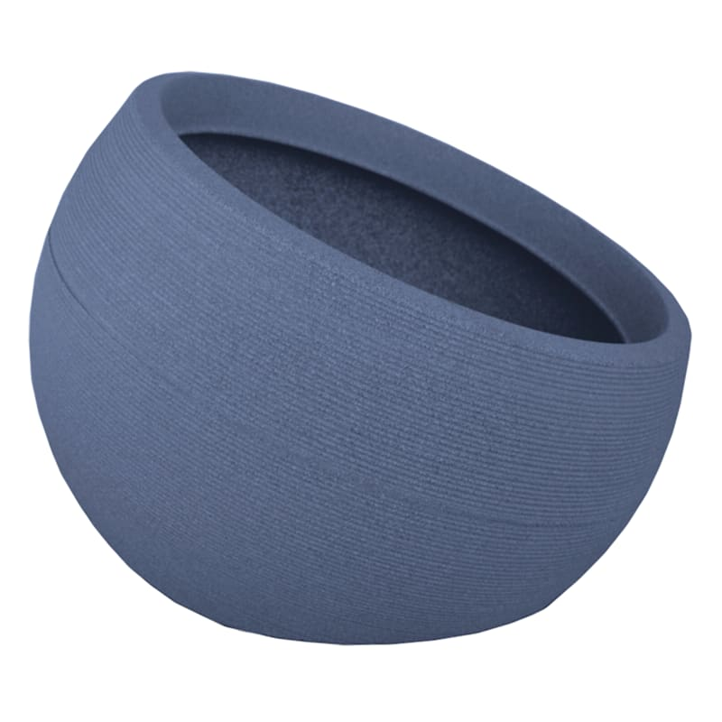 18X28.5 All Weather Proof Polyresin Linea Bowl Charcoal