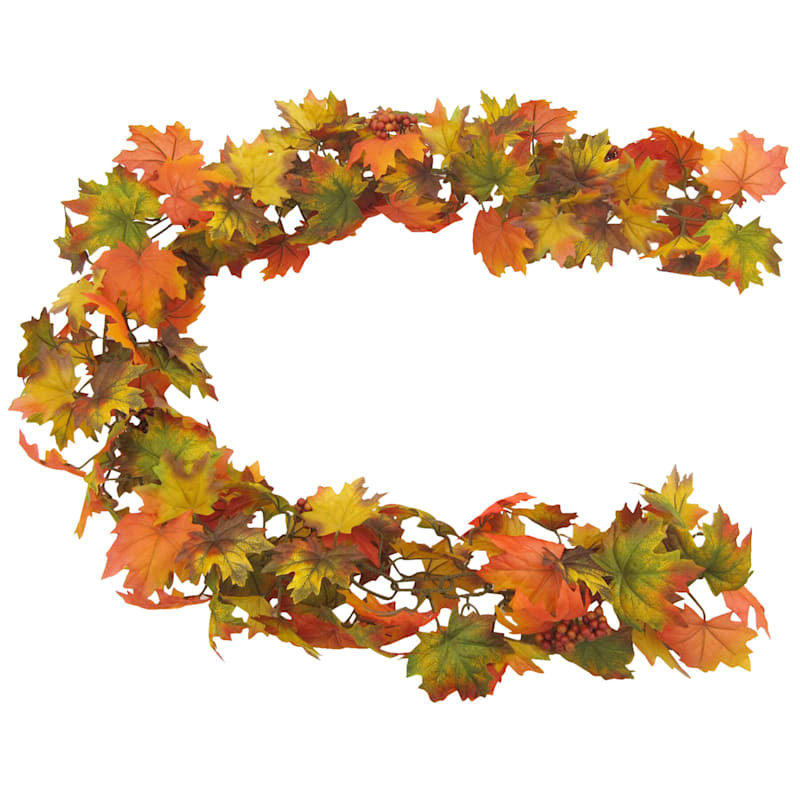Assorted Leaves Garland, 6'