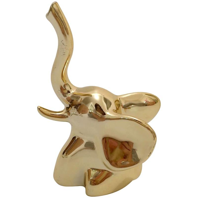 Ceramic Gold Elephant