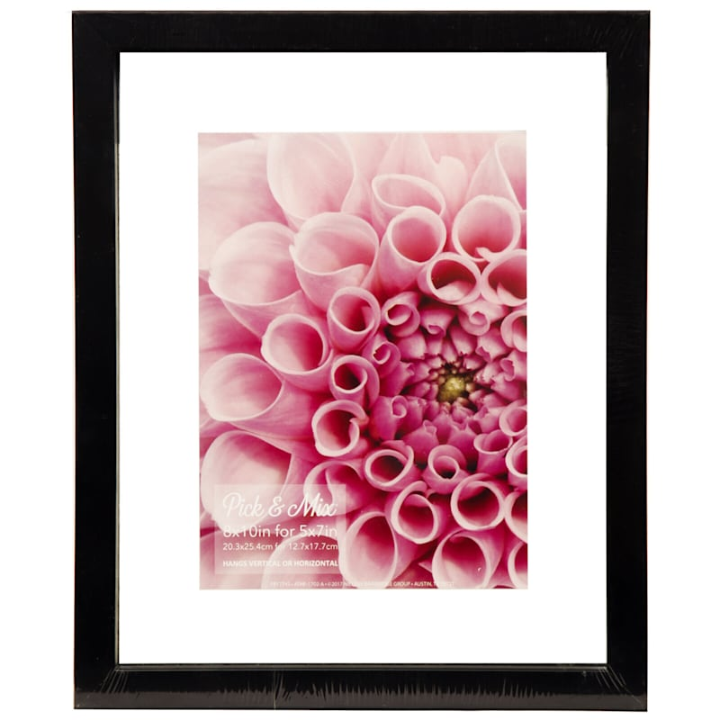 Pick And Mix 8X10 Black Linear Float Photo Wall Frame