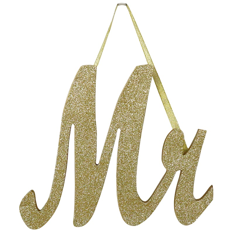 9X8-IN. GOLD MR. SIGN