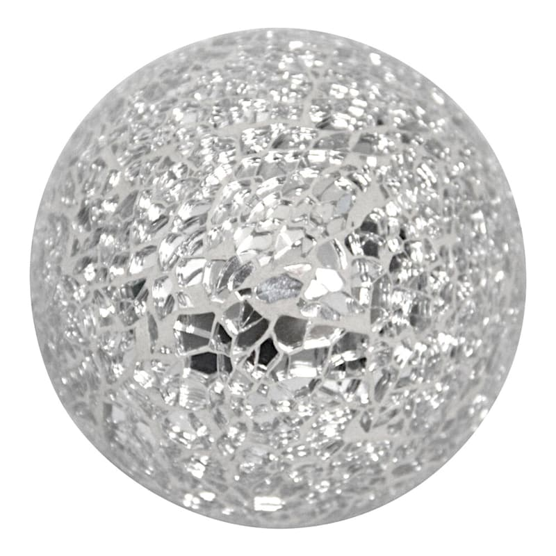 3in. Crackle And Mirror Mosaic Sphere