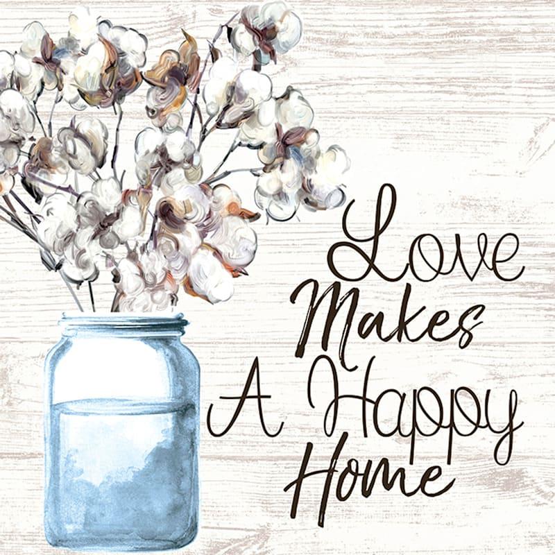 14X14 Mason Jar Flowers Ii Canvas