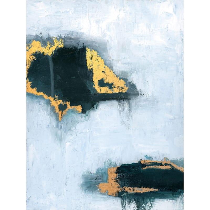31X41 Island Hopping Glitter And Foiled Framed Canvas Art