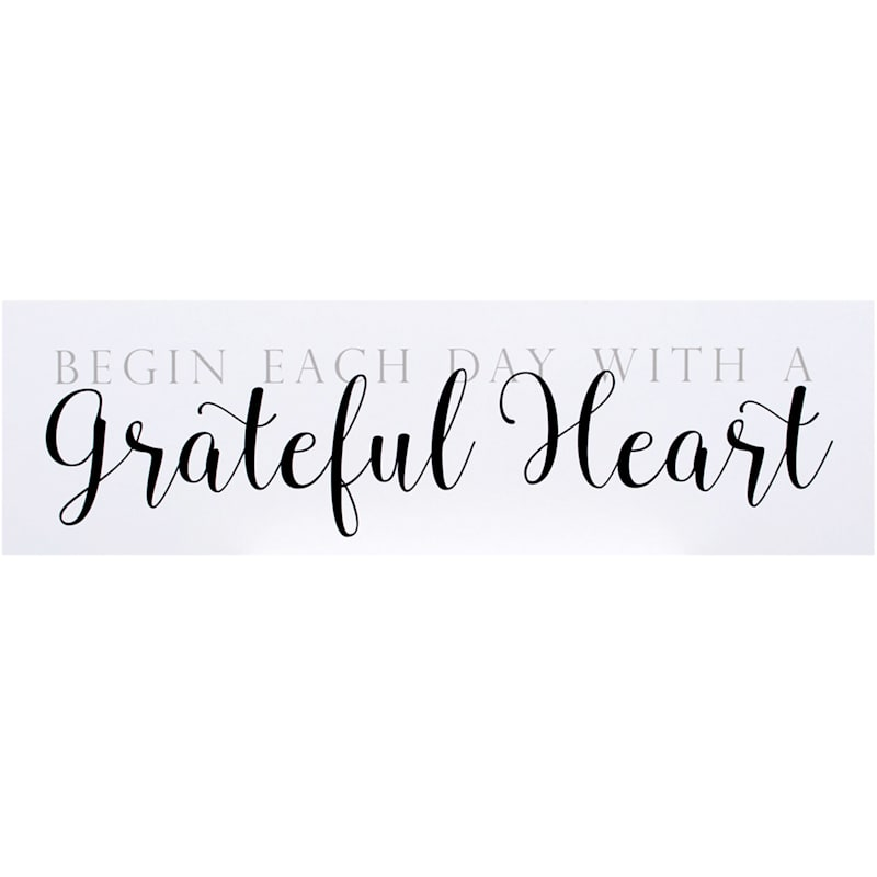 7X24 Begin Each Day With A Grateful Heart Wood Wall Decor