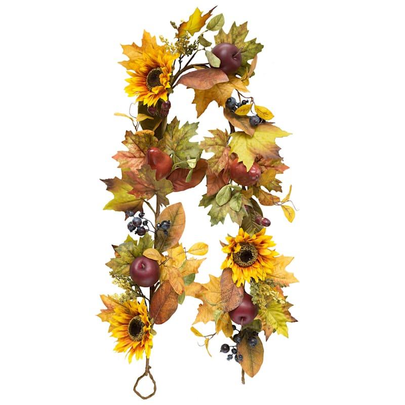 Assorted Sunflower, Fruit & Berry Garland, 6'