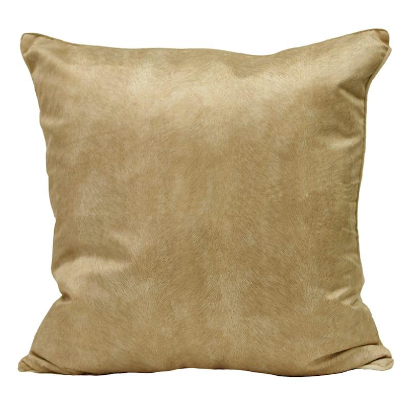 "Knox Orange Velvet Throw Pillow, 22"""