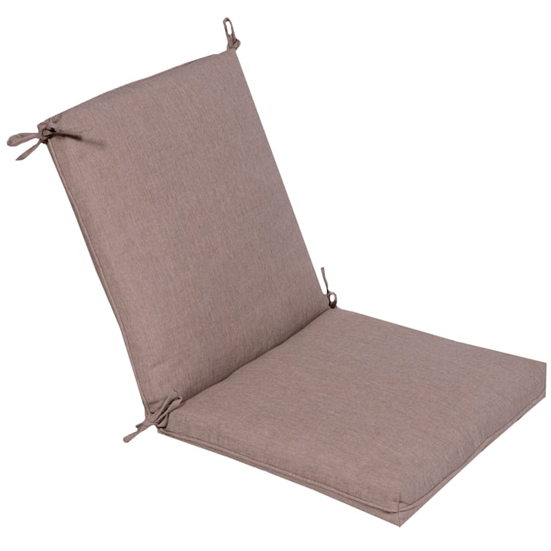 Sonora Taupe Outdoor Premium Hinged Chair Cushion