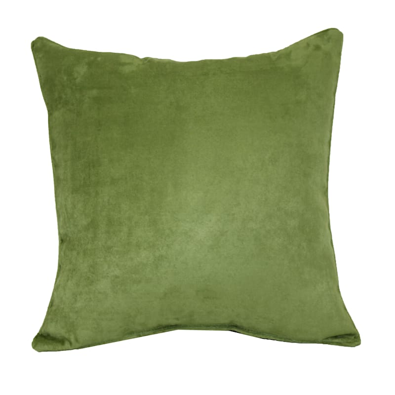 Turtle Green Heavy Faux Suede Pillow 18X18