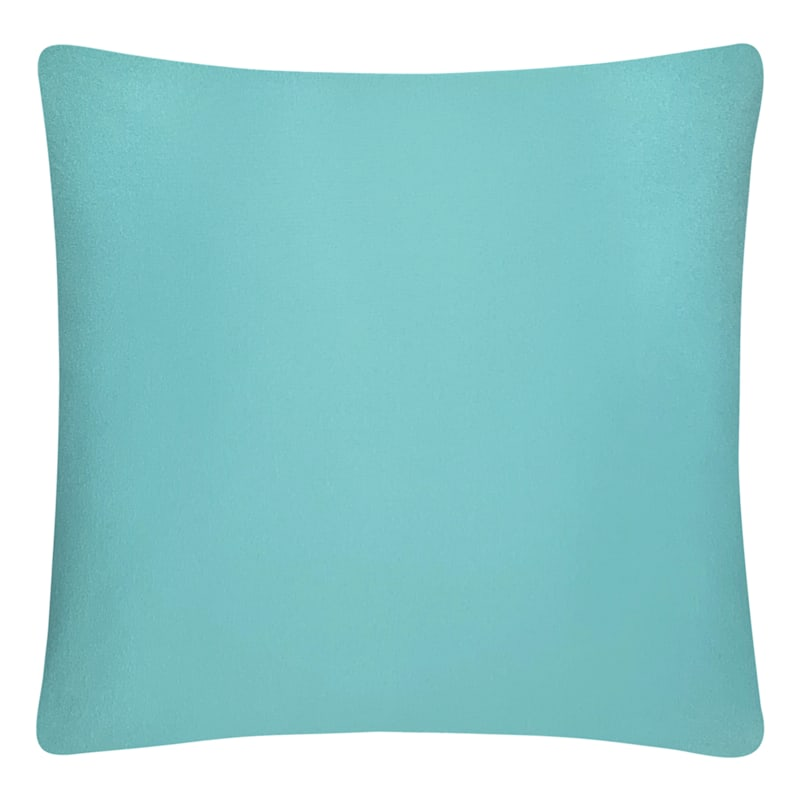 Teal Solid Color Pillow 18X18