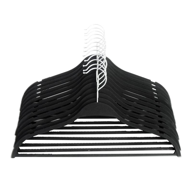 Non Slip Black 12-Piece Suit Hanger