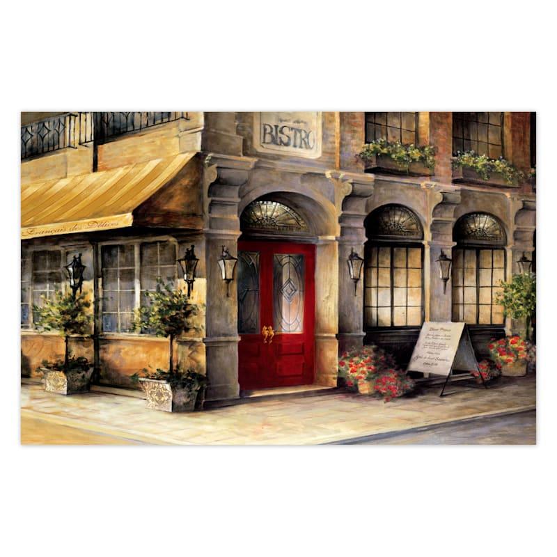 22X23 Bistro Doorway Canvas Wall Art