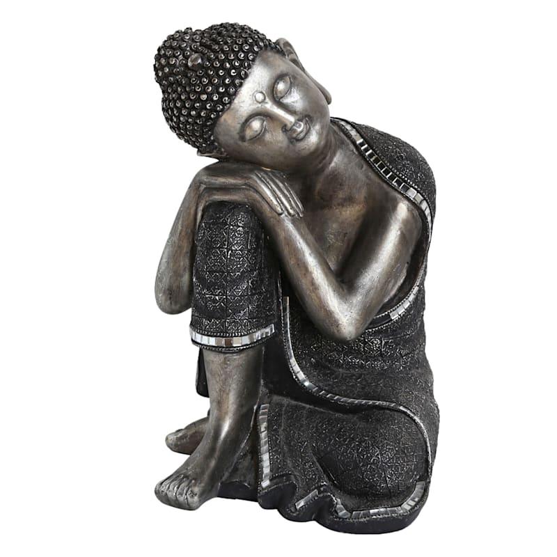 7X11 Silver/Black Resin Buddha