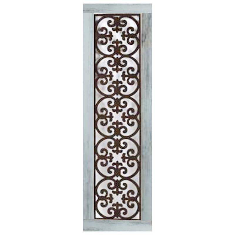 52X15 Metal Scroll Medallion Panel