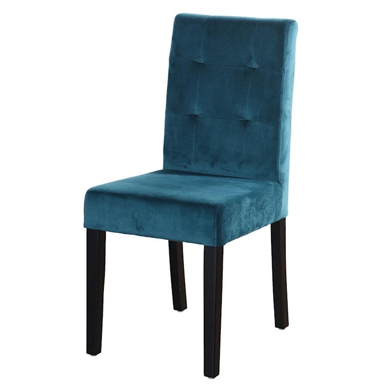 Madden 4-Tuft Aqua Velvet Dining Chair