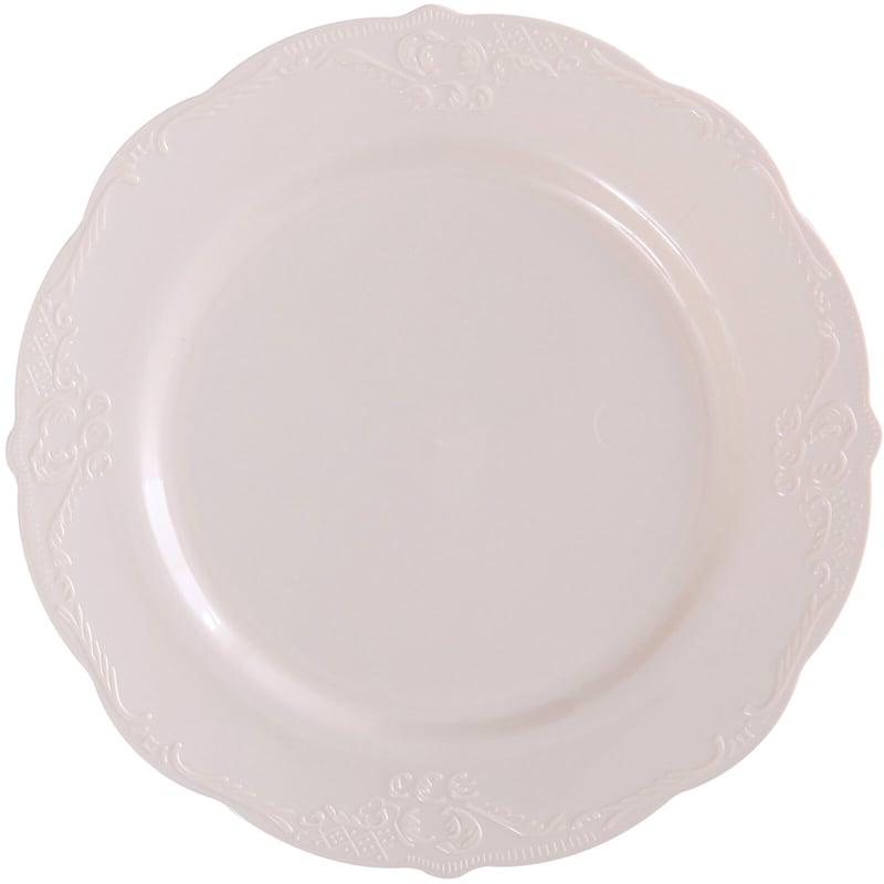 Set Of 10 Blush Salad Plates