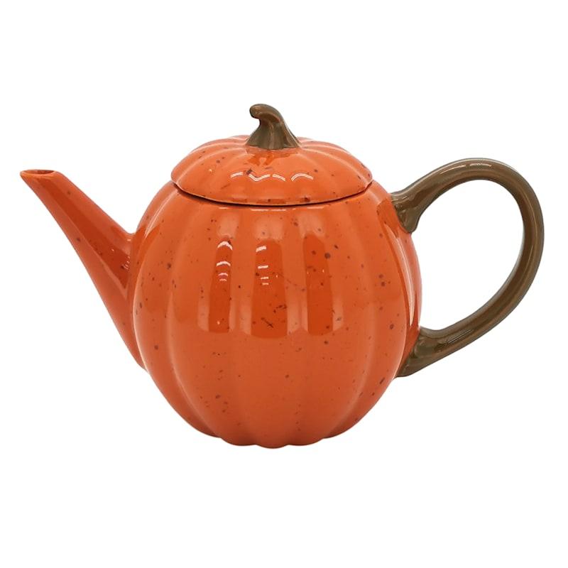 Orange Pumpkin Teapot