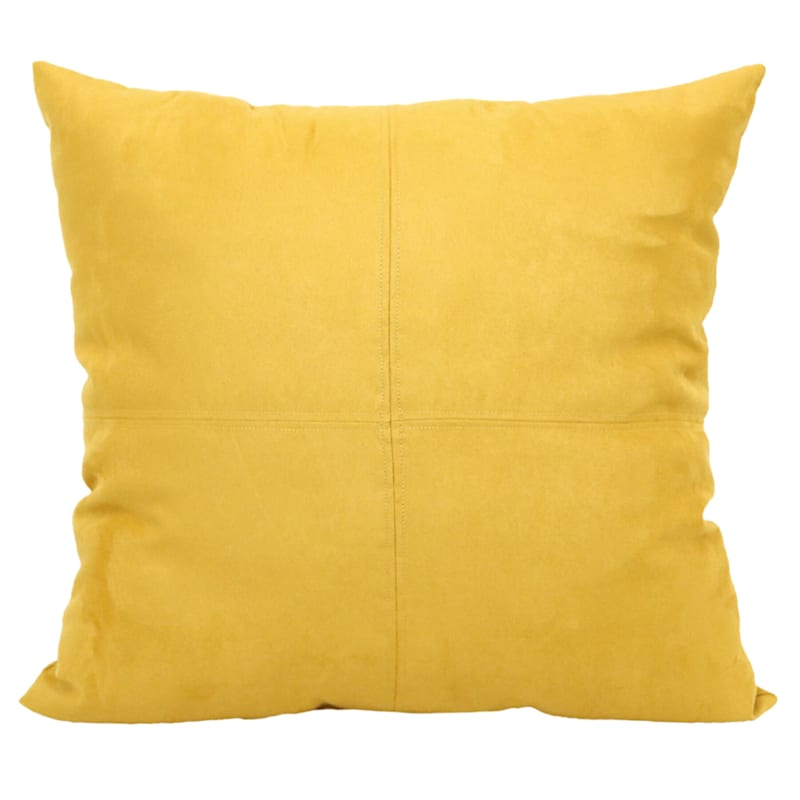 Tumeric Heavy Faux Suede Oversized Pillow 24X24