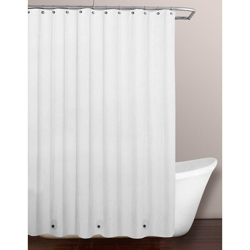 White PVC Lightweight Shower Liner 70X72