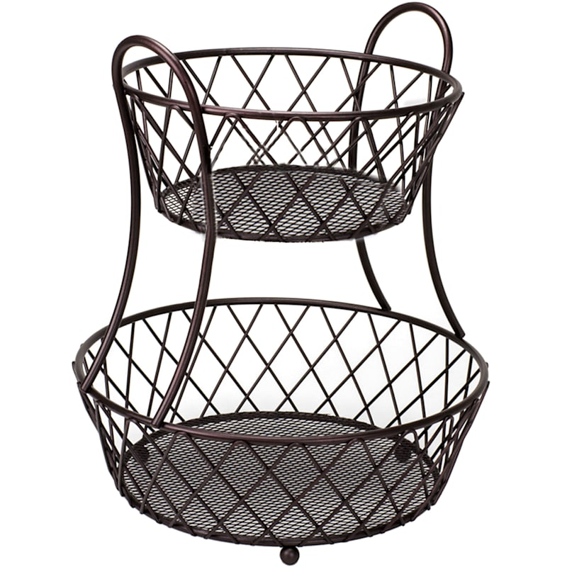 Round Diamonds Two Tier Basket