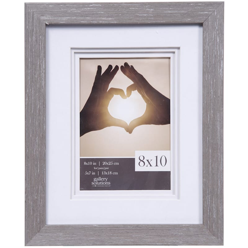 8X10 Matted To 5X7 White Triple Mat Portrait Photo Frame