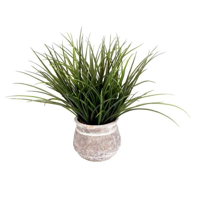 18in. Greenery In White Ceramic Pot