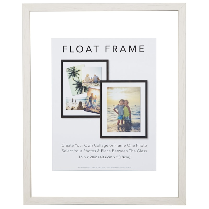 16X20 White Linear Profile Float Photo Wall Frame