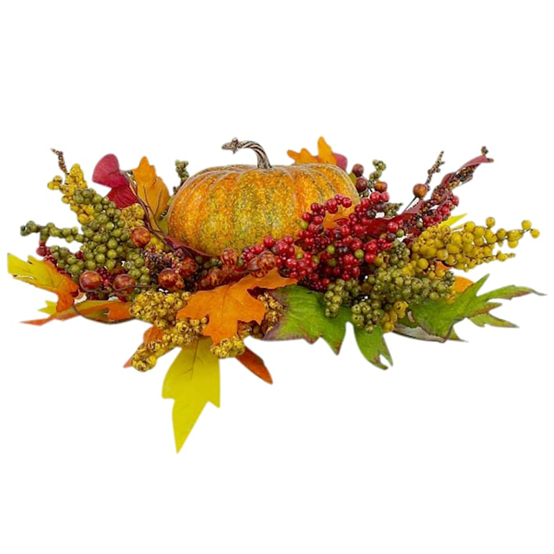 Pumpkin With Assorted Berry Spray Table Arrangement