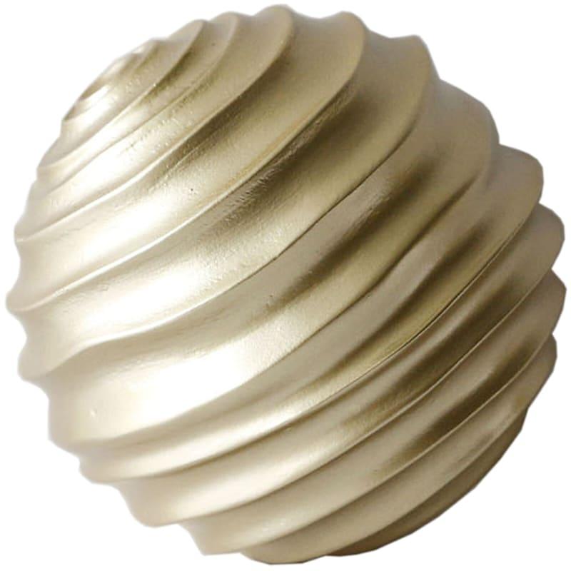 """Gold Swirled Sphere, 4"""""""