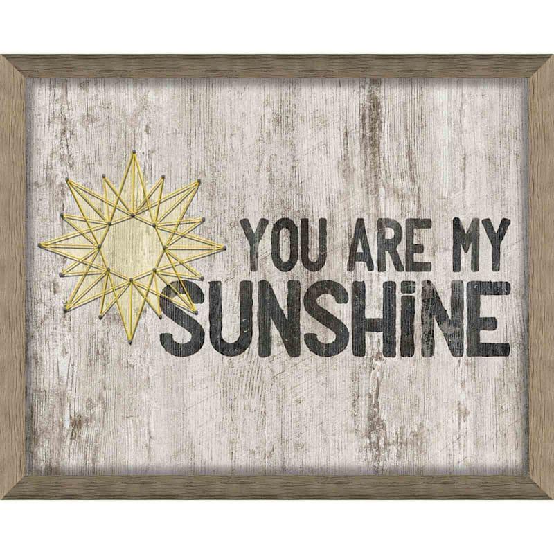 Sunshine Framed Wall Art 12.5 x 15.5-in.