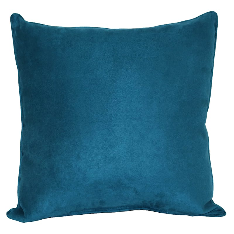Teal Heavy Faux Suede Pillow 18X18