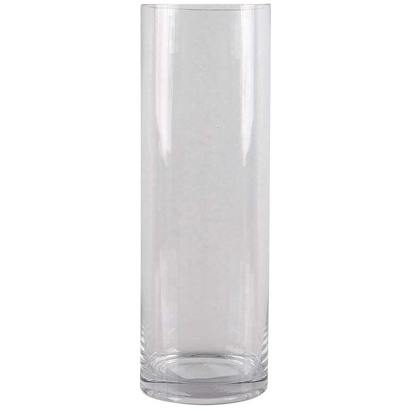 14in. Clear Glass Cylinder Vase