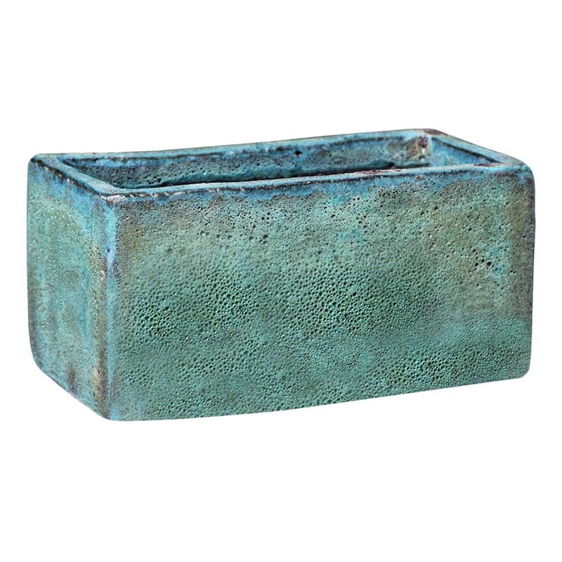 Large Re-Count Green Ceramic Planter