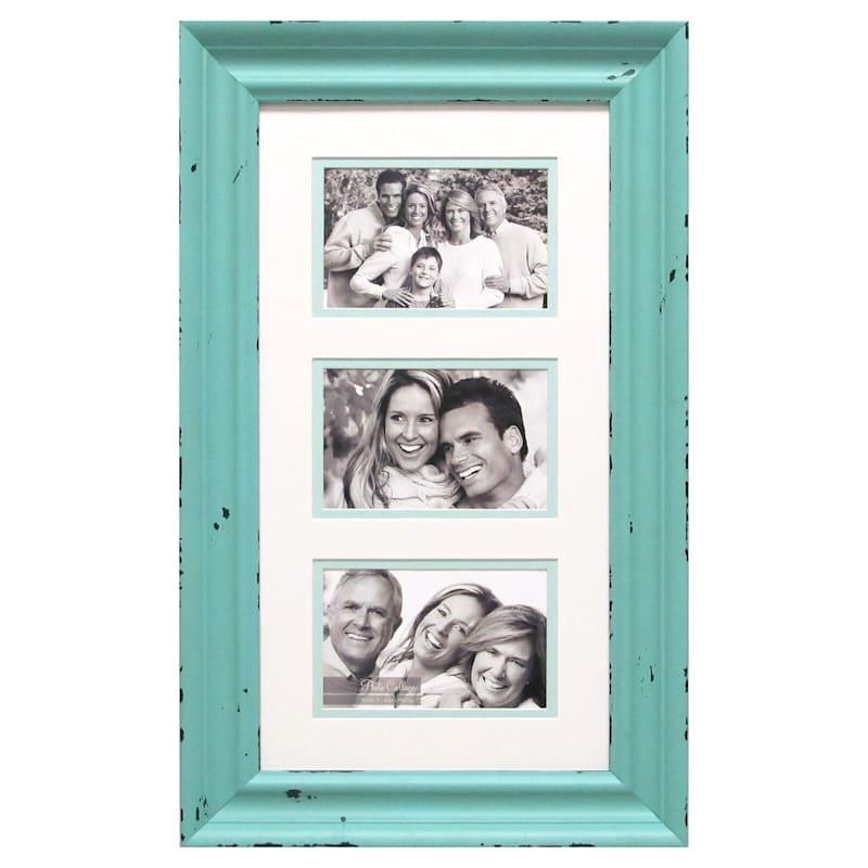 9X17 3 Opening Aqua Photo Collage