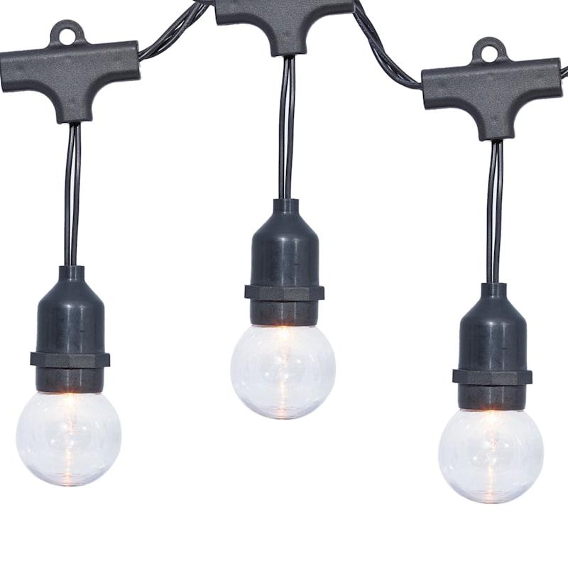 15-Count G40 LED Outdoor String Lights, Black