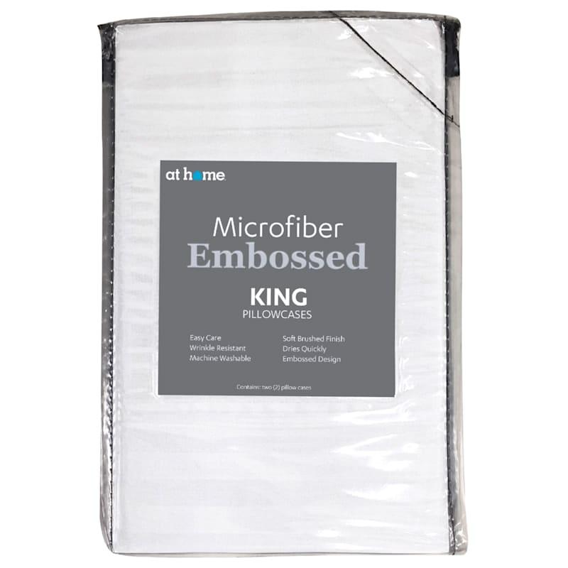 White Microfiber 2-Piece Pillow Case King 20X36