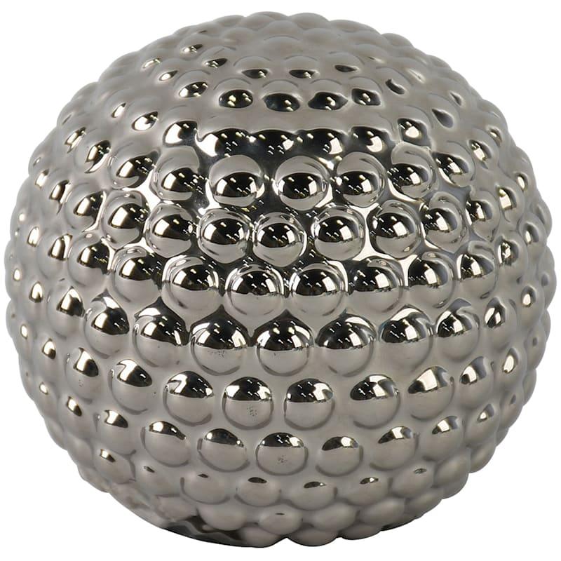 3.7in. Silver Ceramic Sphere