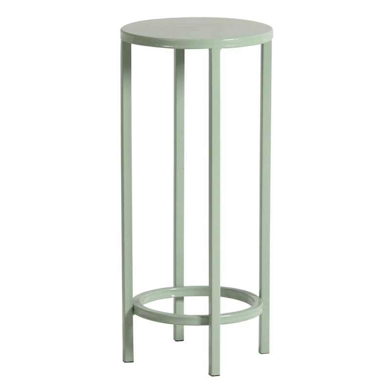 Pastel Metal Round Plant Stand, Small