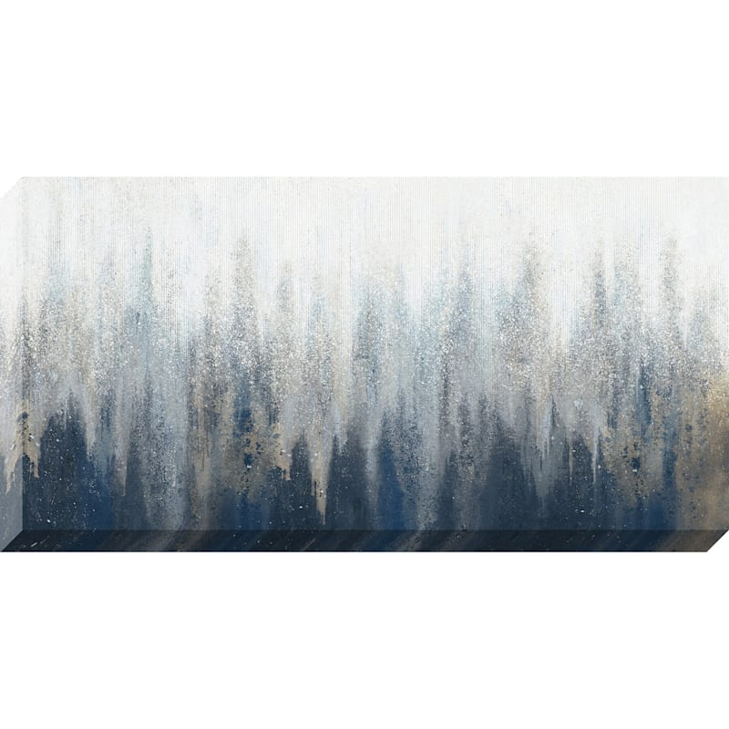 56X28 Silver Beats Textured Canvas