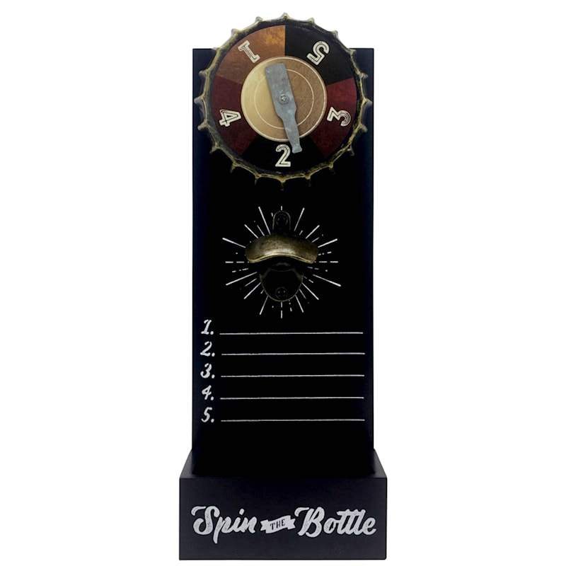 6X17 Pop It Spin It Game Bottle Opener With Cap Catcher Wall Art